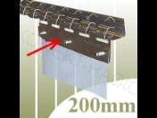Nový systém uchycení fólie do vrat nebo průchodů s naprosto jednoduchou montáží