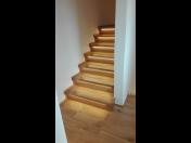 Výroba schodiště, schodů se schodnicí, sedlové schody, schodišťová madla