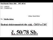Školení elektrikářů, elektromontérů dle vyhlášky 50/78 Sb.