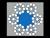 Kvalitní šestipramenné ocelové lano Seal