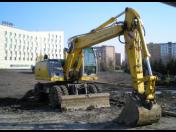 Pronájem, půjčovna stavební mechanizace - kolový bagr 7,5 t CAT 428B a JCB 3CX
