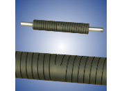 Grooved rubber-coatedspreading rollers – produced in the Czech Republic.