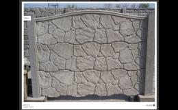 Betonový plot - kámen