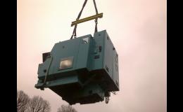 stěhování, transport strojů