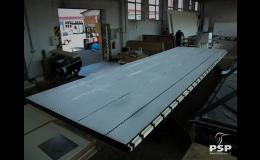 Sendvičové panely prostavbu skříňových nástaveb