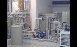 Průmyslová technologická zařízení pro úpravu vody
