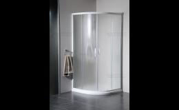 Sprchový kout čtvrtkruhový - sklo Brick