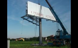 nosné ocelové konstrukce reklamních cedulí