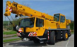 Kompletní práce s autojeřáby o nosnosti do 100 t Olomouc