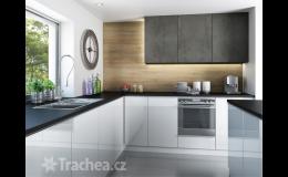nábytková dvířka T.classic - kombinace dřevodekoru a imitace betonu