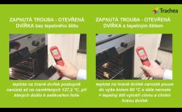 tepelný štít pro ochranu kuchyňských dvířek