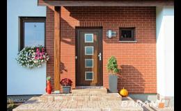 Exteriérové vchodové dveře - vstupní dveře s moderním vzhledem a bezpečnostním kováním