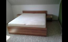 Nábytek na míru do ložnice, manželská postel, Znojmo, Moravský Krumlov