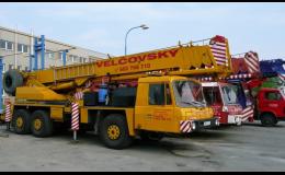 Teleskopický autojeřáb Tatra AD 28 - půjčovna Brno