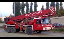 Teleskopický autojeřáb Tatra AD 28 - pronájem Brno
