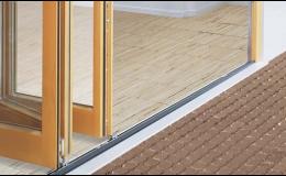 skládací dveře -bezbariérový přístup