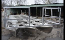 Výroba pontony pro rybáře, hausbóty- houseboaty