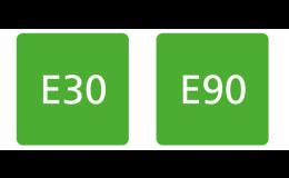 Výrobky s označením E30 a E90