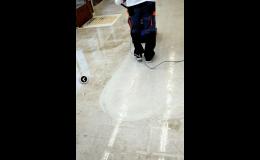 Renovace podlah v PVC, gumy, linolea a marmolea