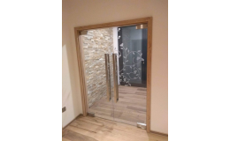 skleněné dveře na míru
