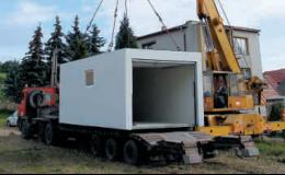 Rychlá instalace monolitické garáže