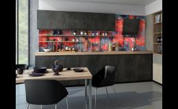 obkladová deska do kuchyně - motiv Industrial