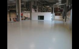 strojně hlazené betonové podlahy - realizace AGRO Otrokovice