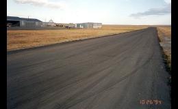 Ošetřená silnice pomocí Reclamite