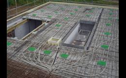 Instalace elektrických rozvodů do betonu