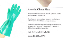 Aurelia Chem Max - rukavice prodej Praha