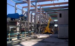 Instalace linky na zpracování dřeva