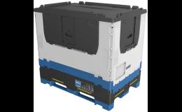 skladací paletový kontajner, veľkoobjemový s vysokou nosnosťou šetrí logistické náklady - Česká republika