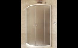 Sprchový kout čtvrtkruhový s vaničkou a sifonem