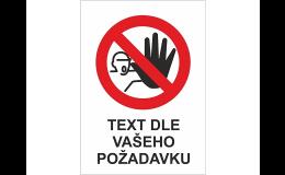Zákazové a příkazové podlahové značky