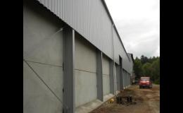 Opláštění budov, hal, jízdáren a ocelových konstrukcí