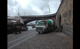 Beton pro revitalizaci náplavek v Praze