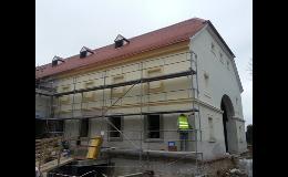 Rekonstrukce fasády, revitalizace v bytových domech Znojmo