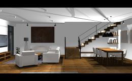 Interiér pro rodinný dům, byt - návrh na míru