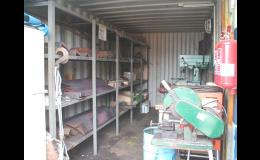 METRANS, a.s., Praha, prodej a dodávka kontejnerů pro dílny, archivy a sklady