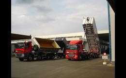 Přeprava sypkých materiálů, nákladní autodoprava Kolín