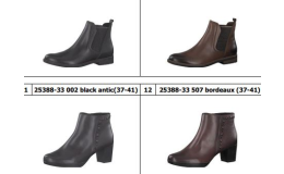 Prodej dámské letní a zimní obuvi značek Rieker, Tamaris, Jana, Marco Tozzi
