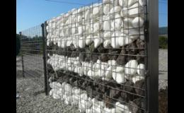 Gabionové stěny - realizace Znojmo, Třebíč