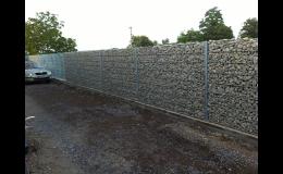 Oplocení gabionovými stěnami