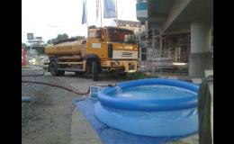 Agentura Hřivna Barrandov, Praha, dovoz vody do studny či bazénu
