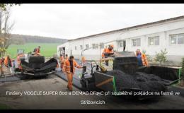 pokládka asfaltu finišery Vogele - Zlínský kraj
