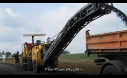frézování vozovky frézou Wirtgen - Zlínský kraj