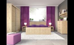 Postele a sektorové skříně pro ložnice