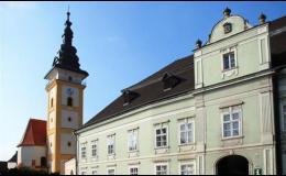 Město Moravské Budějovice nČeskomoravské vysočině v okrese Třebíč