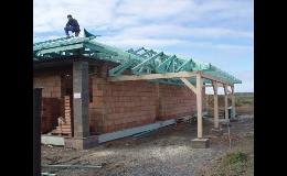 Dřevěné příhradové vazníky na střechy