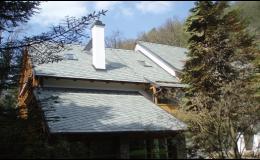 Nová střecha z břidlice Praha